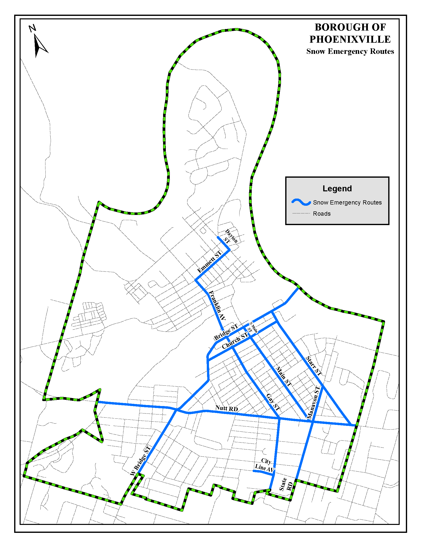 Snow Emergency Route Map