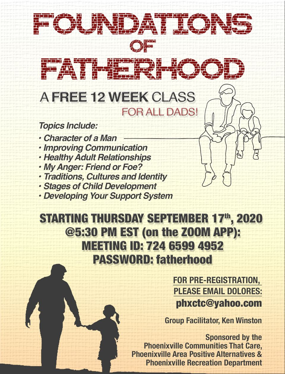 Foundations of  Fatherhood September 17 2020